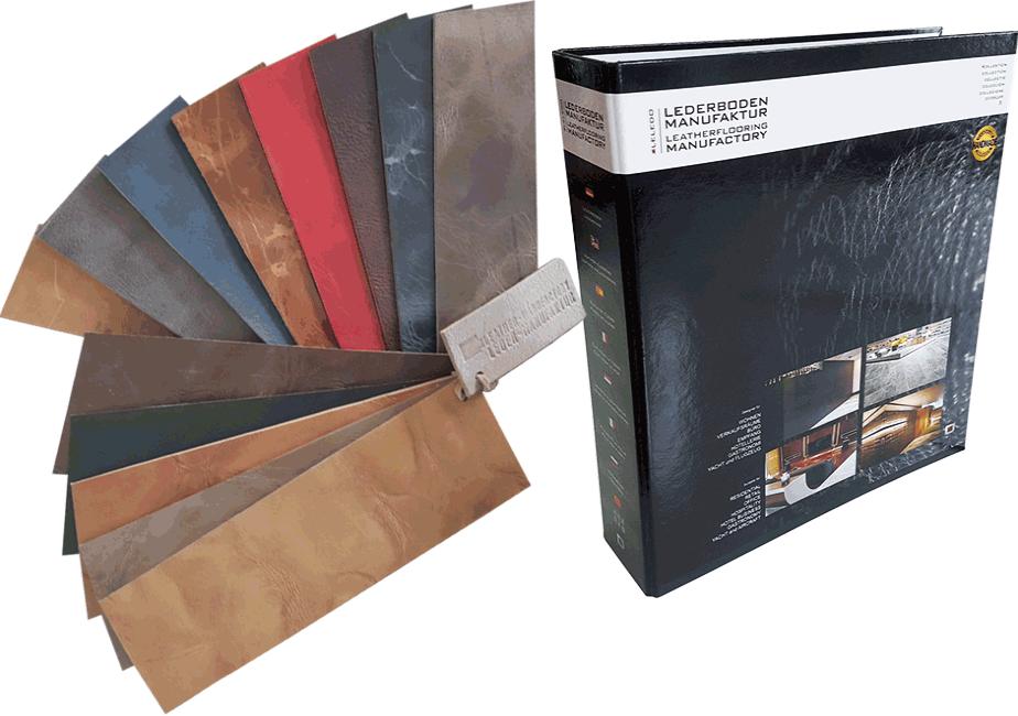 Kollektionsmappe für Lederboden und Lederwand