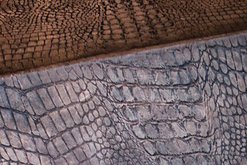 Lederen vloer bruin